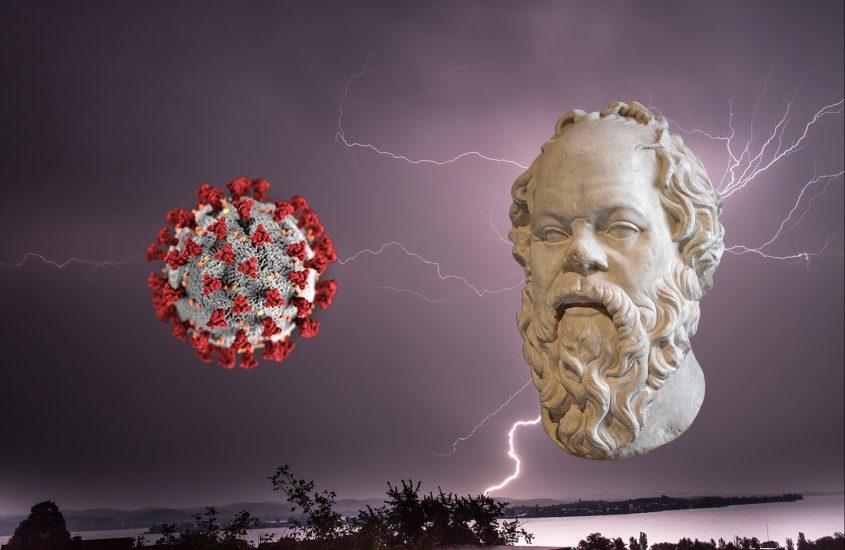 Covid, pioggia, Socrate e il gusto del sapere