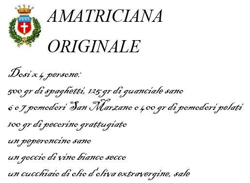 L'Amatriciana Originale