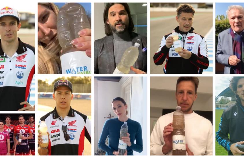 """I campioni dello sport """"in cammino per l'acqua"""""""