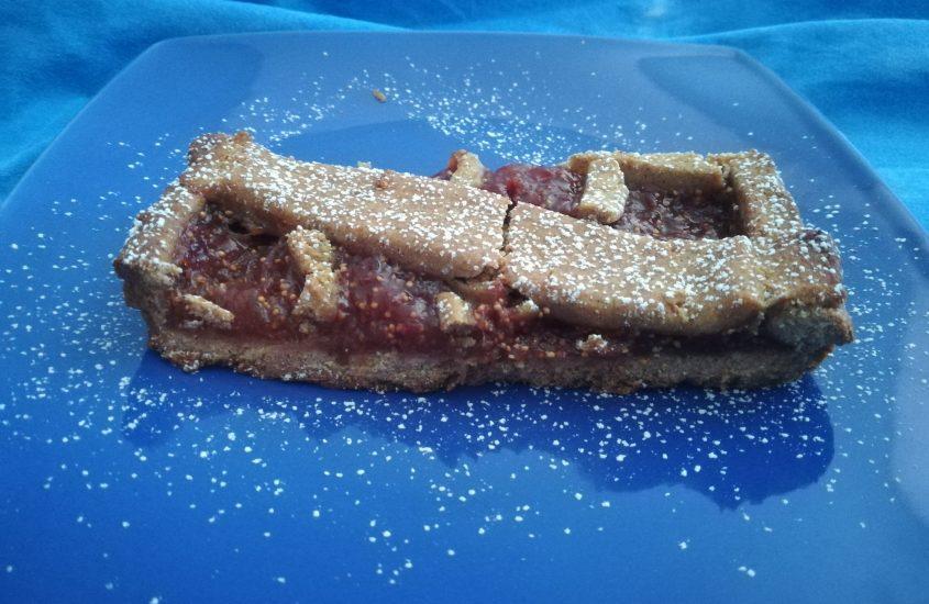 Crostata al grano saraceno e marmellata di fichi